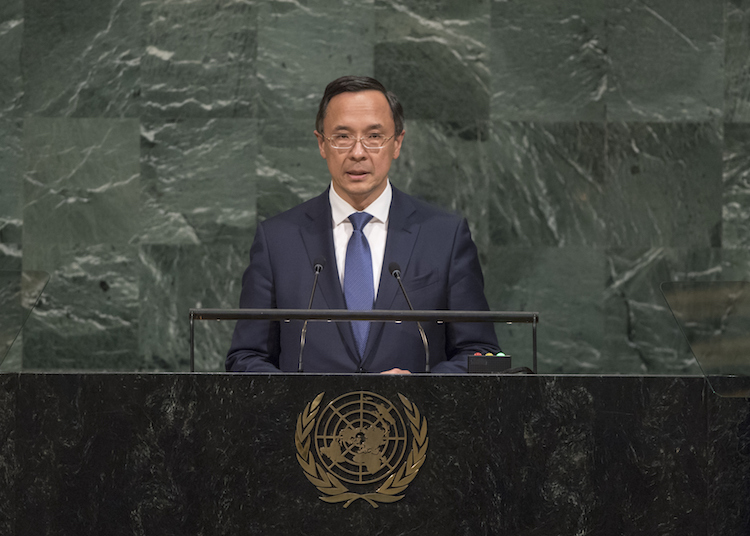Photo: Kairat Abdrakhmanov, Minister for Foreign Affairs of the Republic of Kazakhstan, addresses the general debate of the General Assembly's 72nd session on 21 September 2017. Credit: UN Photo/Cia Pak