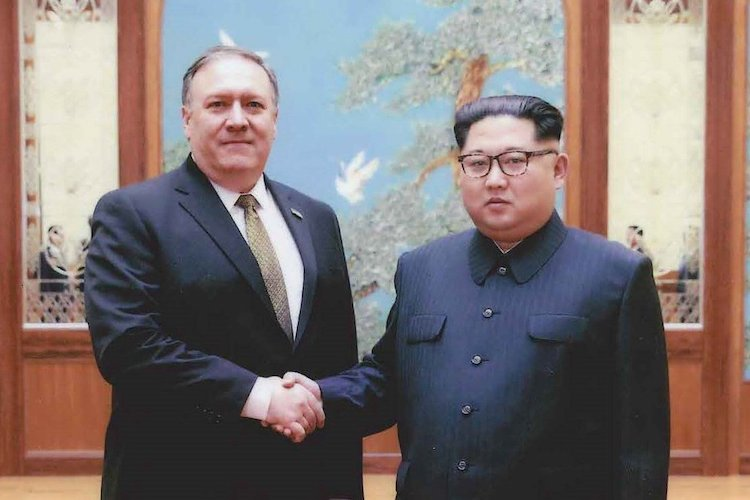Photo: Mike Pompeo, then Director of the Central Intelligence Agency, meets with North Korea dictator Kim Jong-un over the Easter weekend (March 30 to April 1, 2018). Source: Wikimedia Commons.