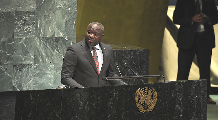 Photo: Dr Zerbo Lassina addressing the UN General Assembly on 6 September 2018. Credit: CTBTO