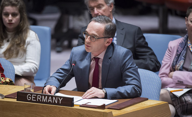 Photo: Heiko Mass, Minister for Foreign Affairs of Germany, addressing the Security Council meeting on collective action to improve United Nations Peacekeeping Operations on 28 March 2018. Credit: UN Photo/Loey Felipe.