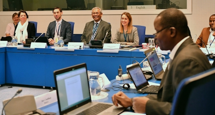 Photo: The IAEA's first School on Drafting Nuclear Security Regulations for African Countries was held at the IAEA's headquarters in Vienna. Credit: D. Calma/IAEA