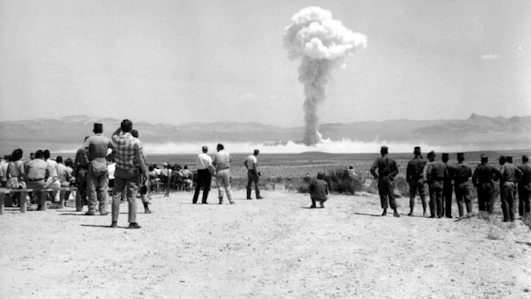 Photo: Nuclear weapons testing conducted in Nevada. Credit: Peter W. Merlin