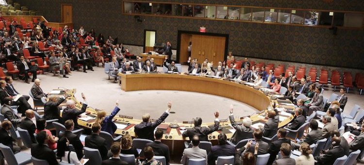 "Photo: The UN Security Council unanimously adopted on 20 July 2015 a resolution establishing a monitoring system for Iran's nuclear programme and considering the ""eventual removal"" of all nuclear-related sanctions against the country. President Trump told the White House press corps on May 11, 2018 that the Deal was defective at Its core. A new one would require real commitments. Credit: UN Photo."