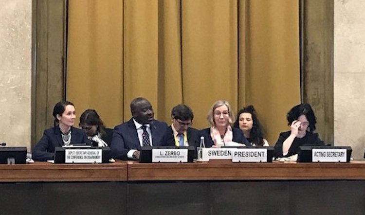Photo: Statement by Dr. Lassina Zerbo, CTBTO Executive Secretary, at the UN Conference on Disarmament on 26 February 2018. Credit: Kazakh Mission in Geneva.
